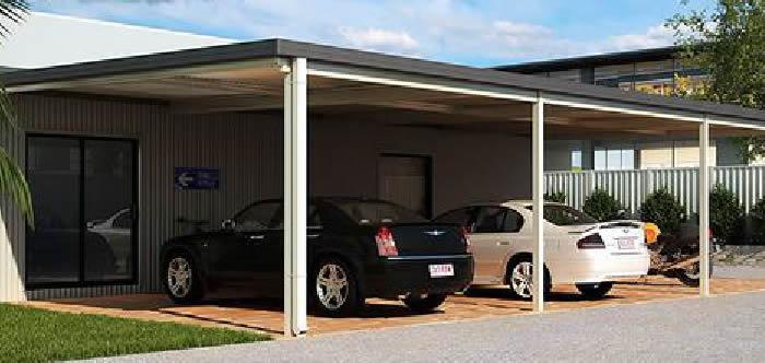 Commercial Flat Roof Carport