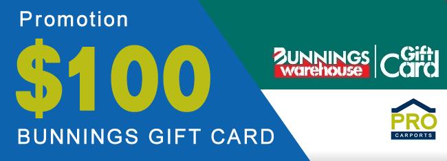 $100 Bunnings Gift Voucher